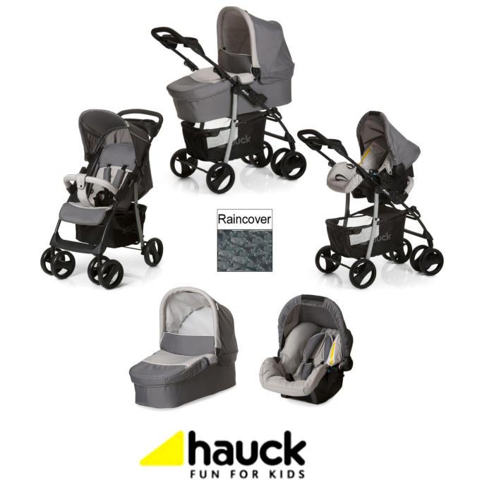 Hauck Shopper SLX Trio Set Travel System - Stone - Grey