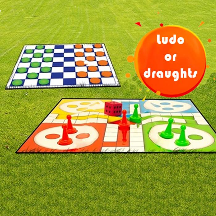 Giant Garden Game Sets - Ludo or Draughts