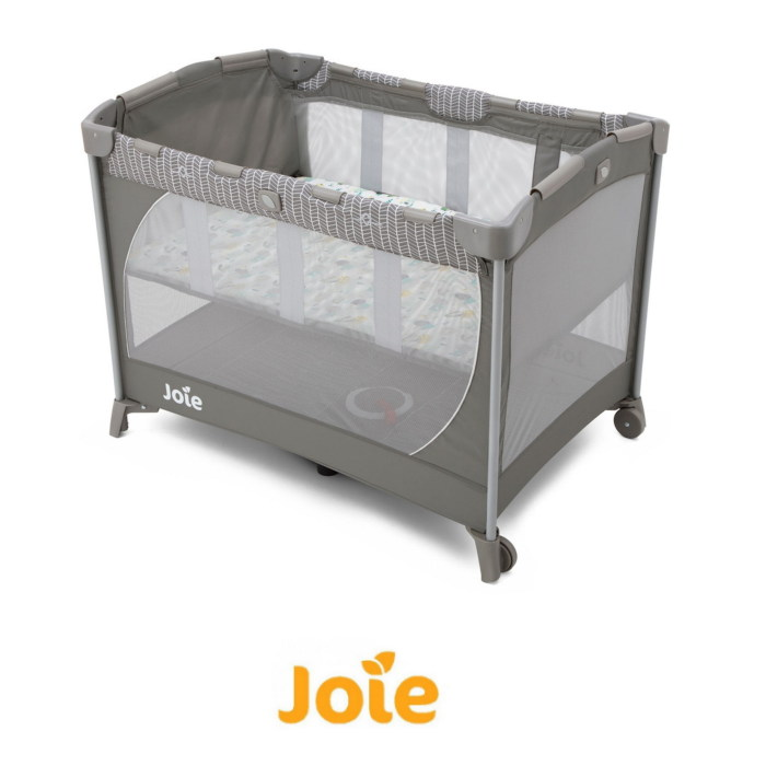 Joie Mothercare Exclusive Commuter Travel Cot with Bassinet - Grey Woodland Mint