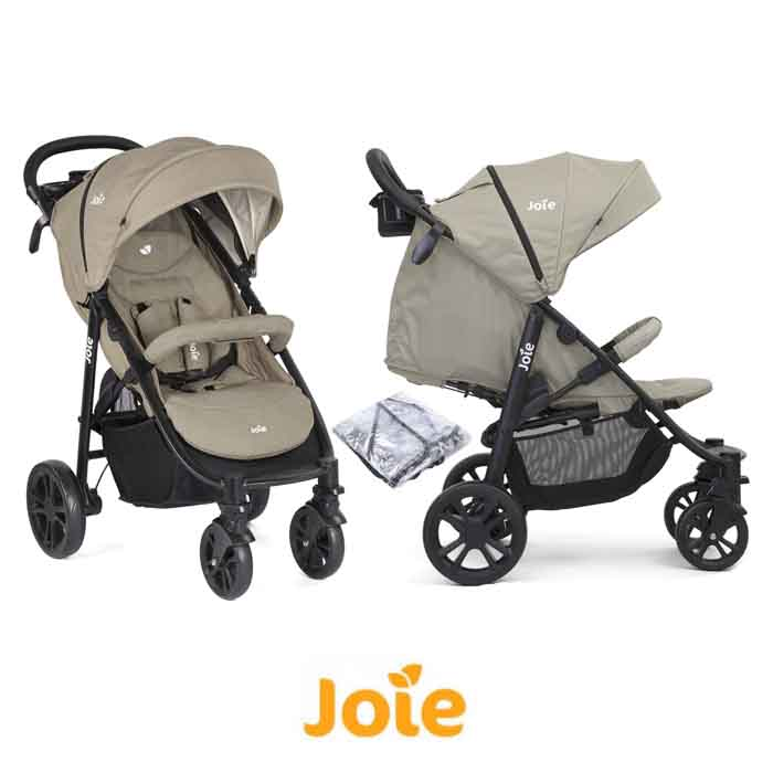 Joie Litetrax 4 Wheel Pushchair Stroller - Twig
