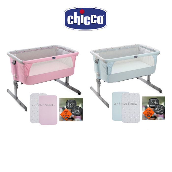 Chicco Next 2 Me Crib With 2 Fitted Sheets  Travel Pack