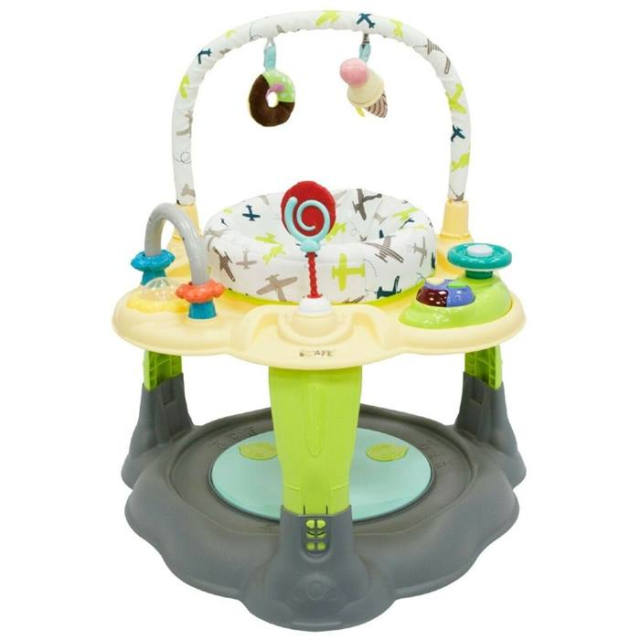 iSafe 2 in 1 Activity Centre Entertainer With 360° Rotating Seat & Play Table Function