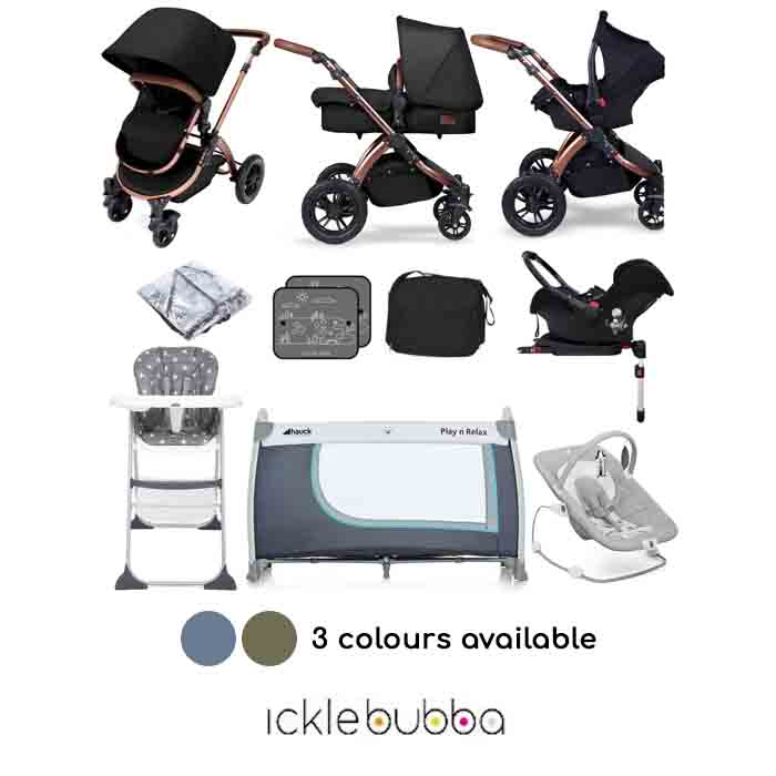 Ickle Bubba Special Edition Stomp V4 Galaxy Car Seat Everything You Need Travel System Bundle With Base