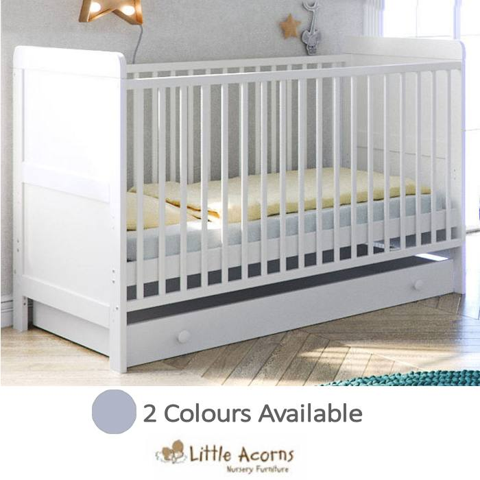 Little Acorns Classic Milano Cot Bed with Deluxe Foam Mattress