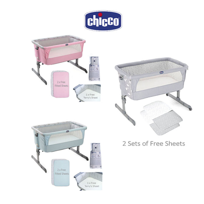 Chicco Deluxe Next 2 Me Crib  Sheets Set Special Edition
