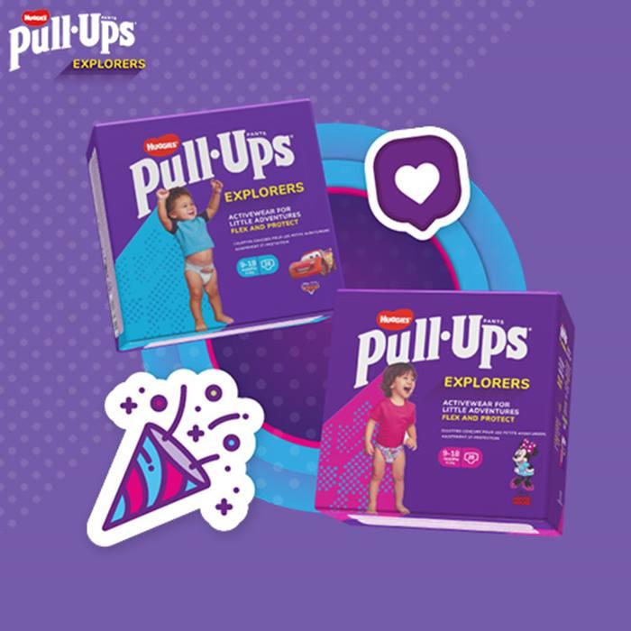 FREE pack of Huggies® Pull-Ups® Explorers - 24 or 28 pack
