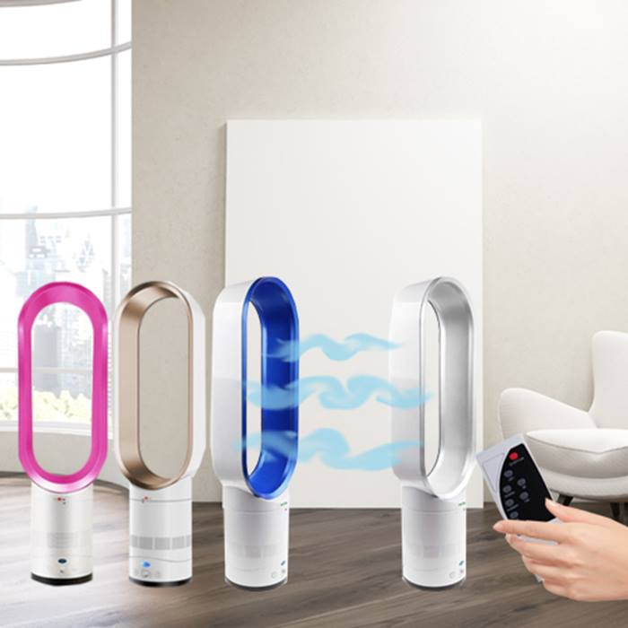 Smart 16 Inch Oscillating Bladeless Fan With Remote - 4 Colours