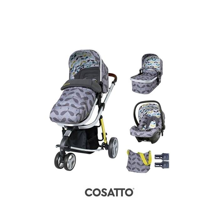 Cosatto Giggle 3 Travel System & Accessories Bundle - Seedling