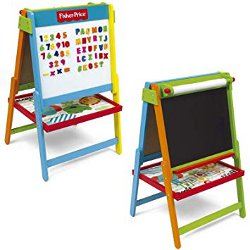 Fisher Price Wooden Double Sided Art Easel 2in1 Chalkboard 250