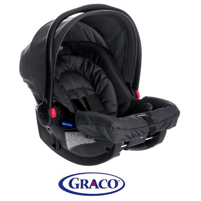 Graco Snugride Group 0+ Car Seat - Midnight Black