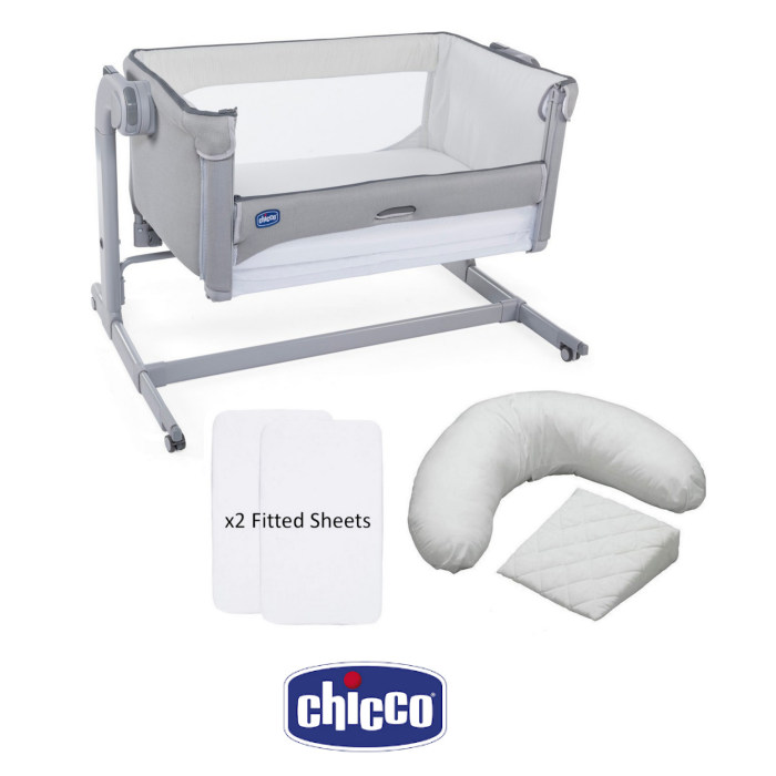 Chicco Next 2 Me Magic Crib, Sheets & Pillow Pack Bundle
