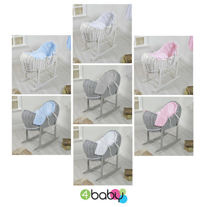 4baby Wicker Snooze Pod  Rocking Stand  Dimple7