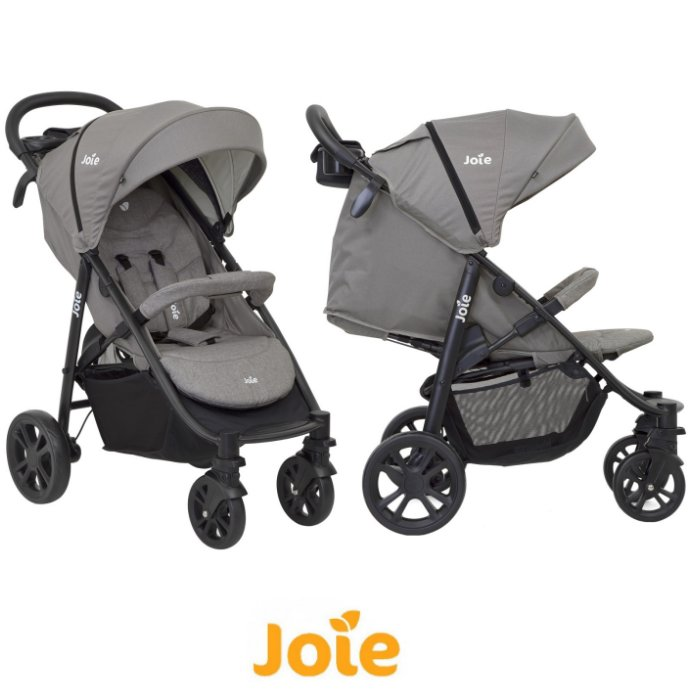 Joie Litetrax 4 Wheel Pushchair Stroller - Grey Flannel