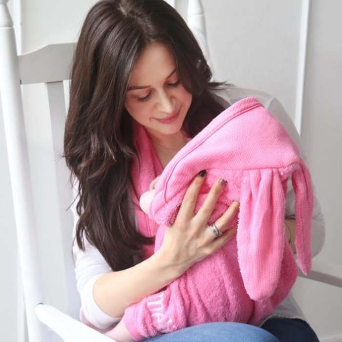 My1styears-Baby Pink Bunny Hooded Towel