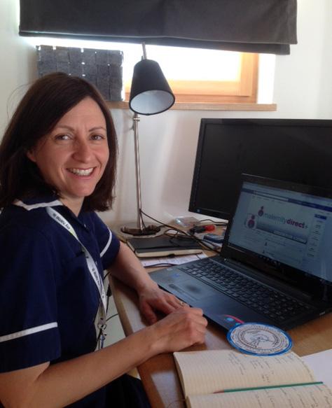 Midwife Rebecca Tranter