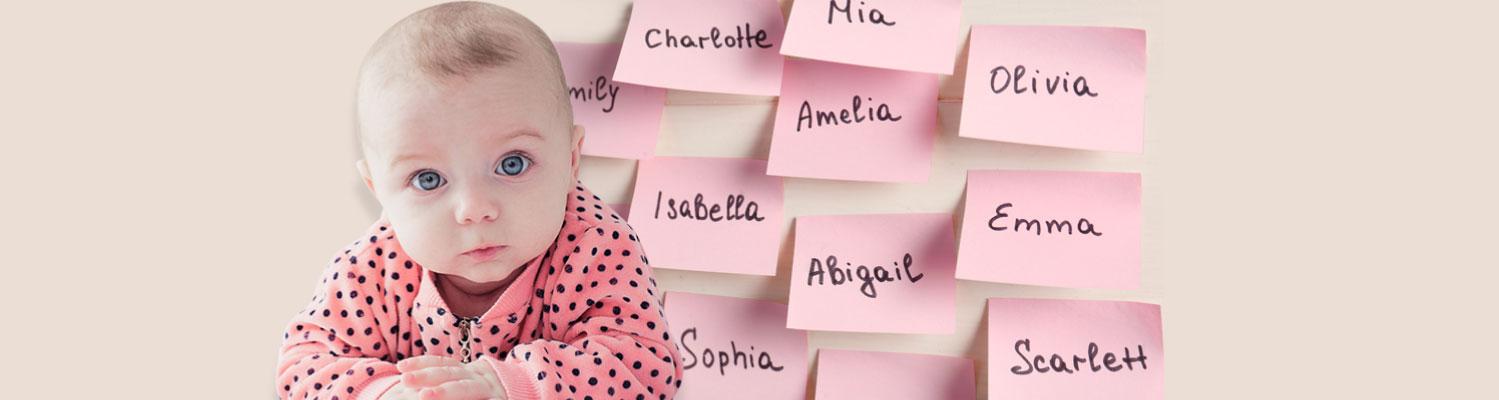 Top girls baby names 2018