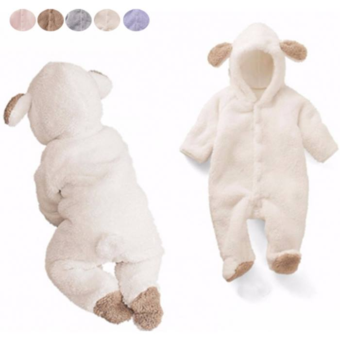 Cute Hooded Baby Romper - 5 Colours