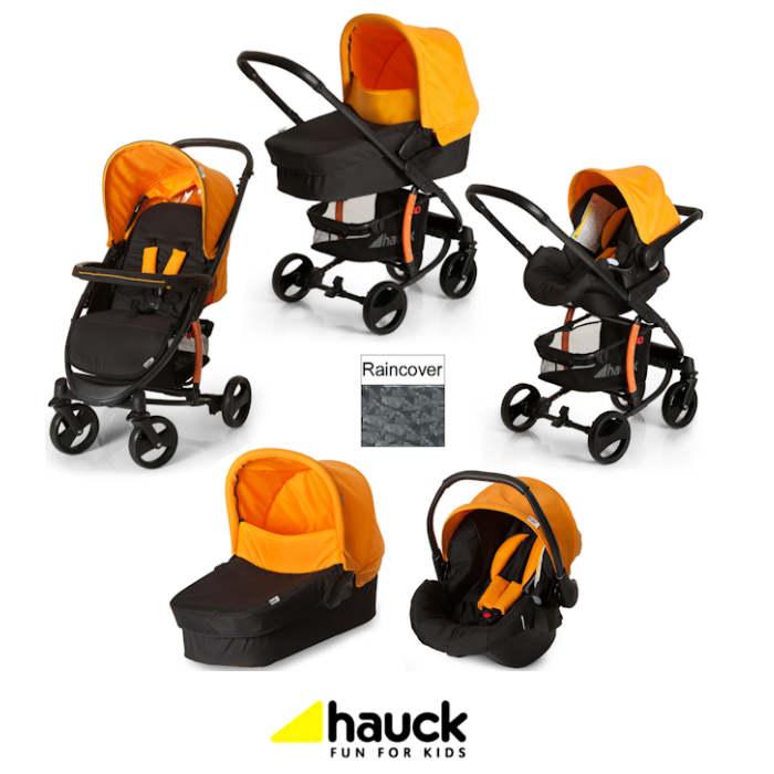 Hauck Miami 4 S Trio Set Travel System - Caviar - Orange