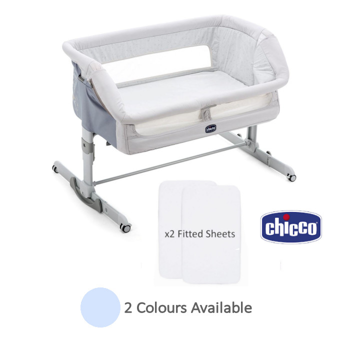 Chicco Next2Me Dream Crib With 2 Fitted Sheets