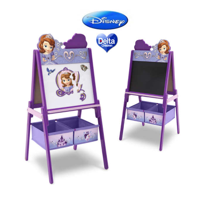 Delta Children Double Sided Wooden Art Easel With Storage - Disney Sofia The First