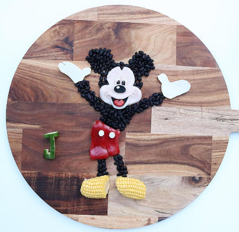 Mickey Mouse fruit and veg