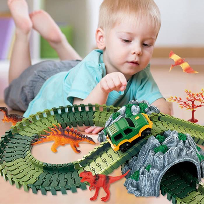 Dinosaur World 142-Piece Track Set With Car
