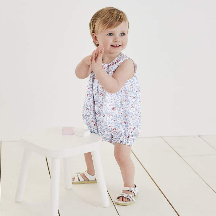 white company bubble romper