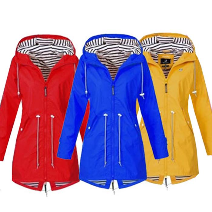 Women's Long Hooded Raincoat - UK Sizes 6-20 & 6 Colours!