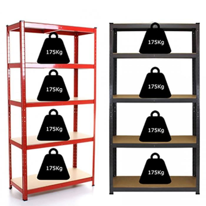 1 or 2 5-Tier Heavy Duty Boltless Shelving Unit - 3 Colours