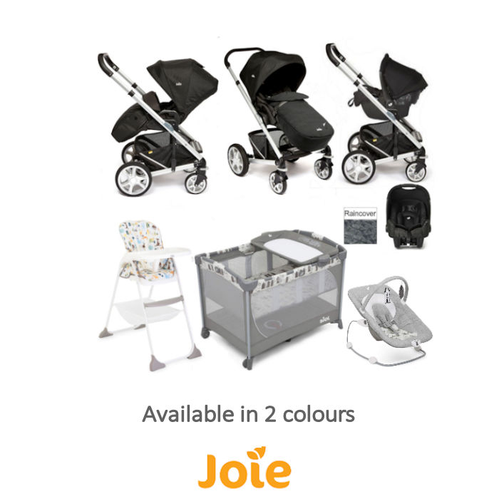 Joie Chrome Plus Everything You Need Gemm Travel System Bundle New Bouncer