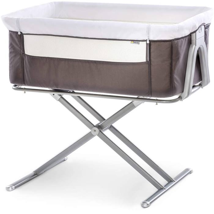Hauck Face To Me Bedside Crib (Grey)