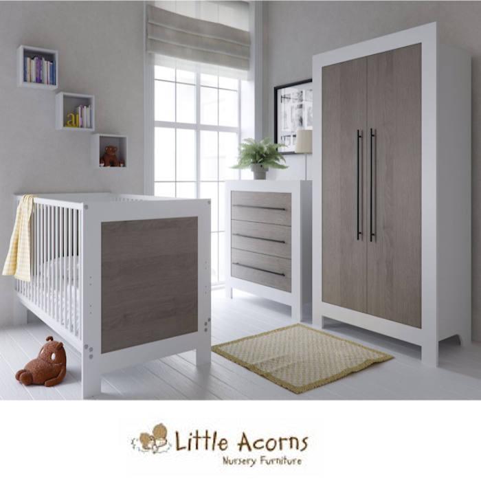 Little Acorns Portland 5 Piece Room Set - Grey Oak