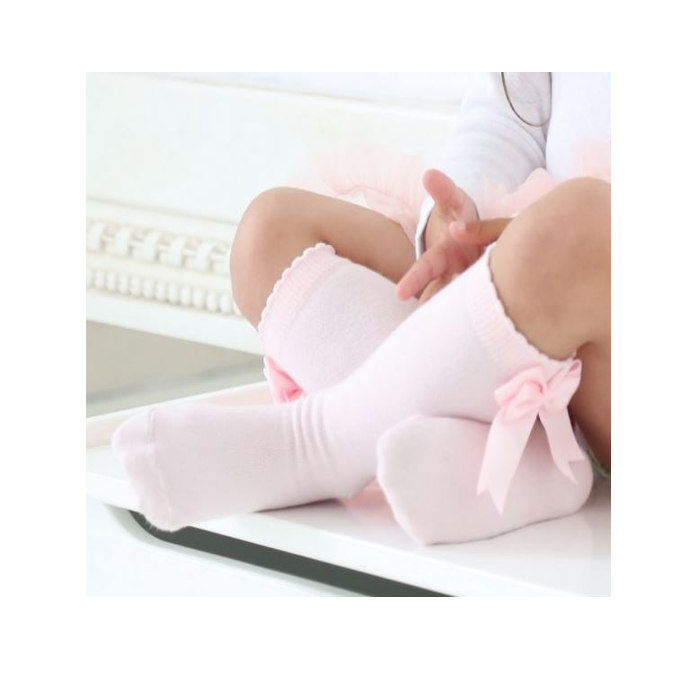 Pink Bow Socks