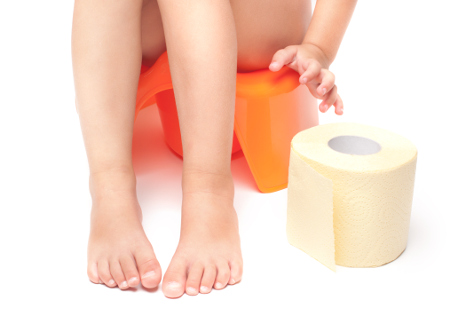 Wiping and potty training