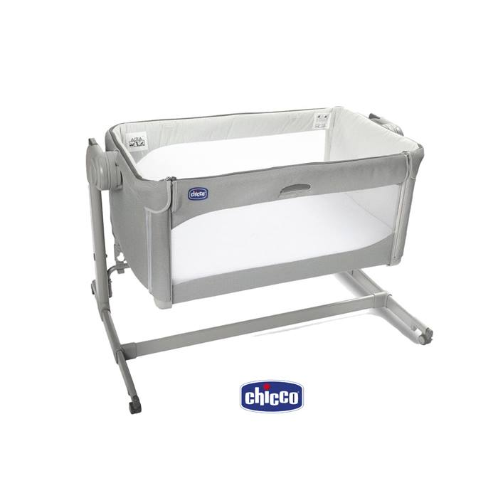 Chicco Next2me Forever Bedside Crib - Cool Grey