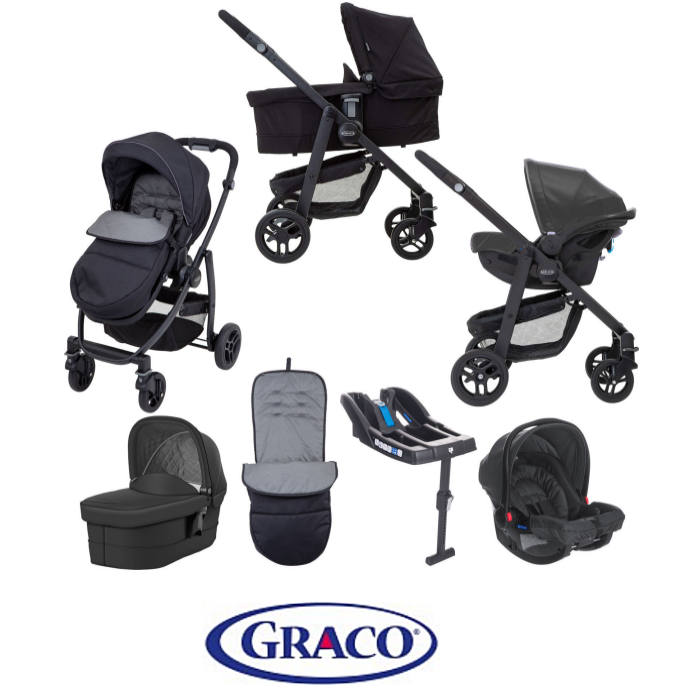 Graco Evo Travel System With Carrycot & Base