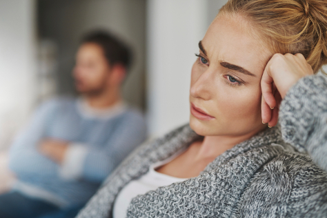 Woman having suffered a miscarriage