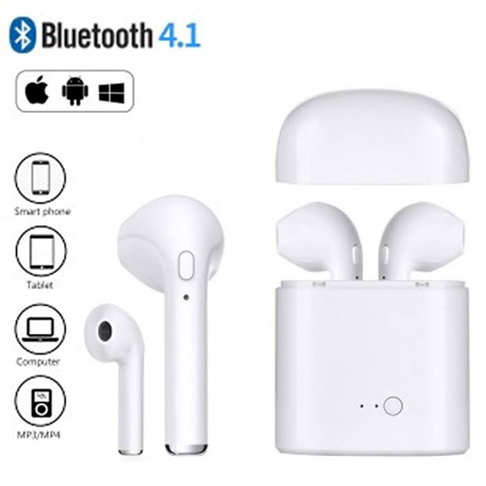 Wireless Earbuds With Charging Dock - 5 Colours - Free Delivery!