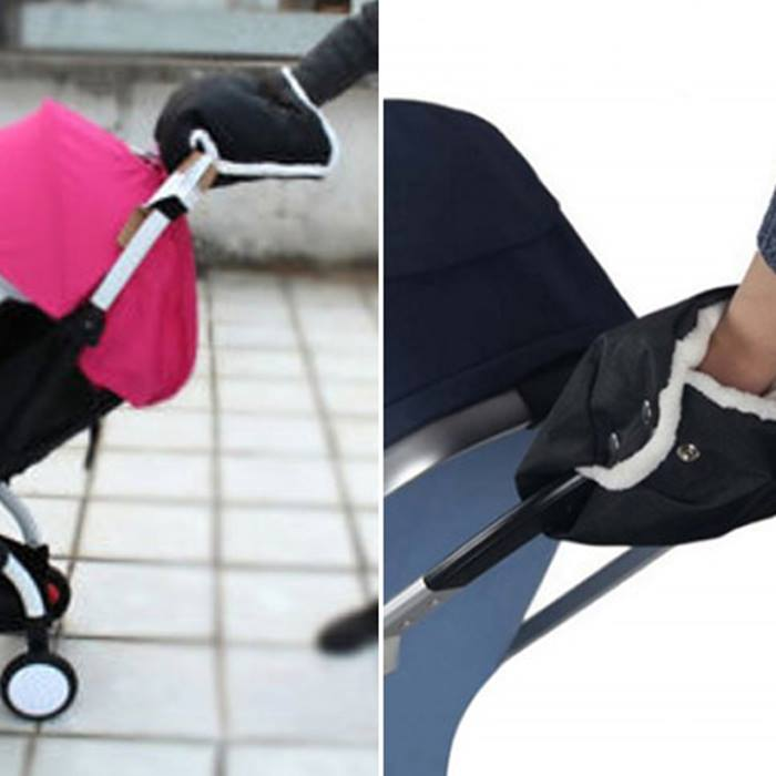 Pushchair Handle Hand Warmer - 2 Colours