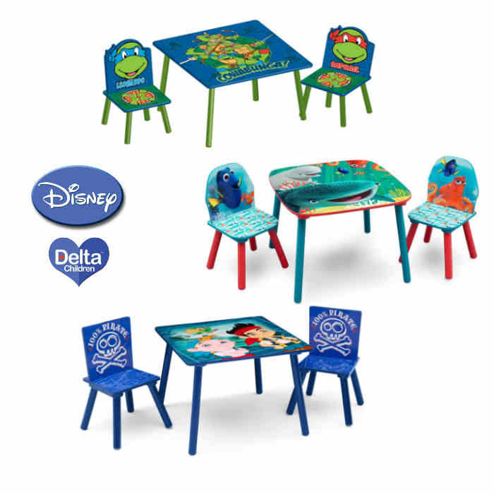 Delta Children Folding Table  Chairs Set  Disney 2