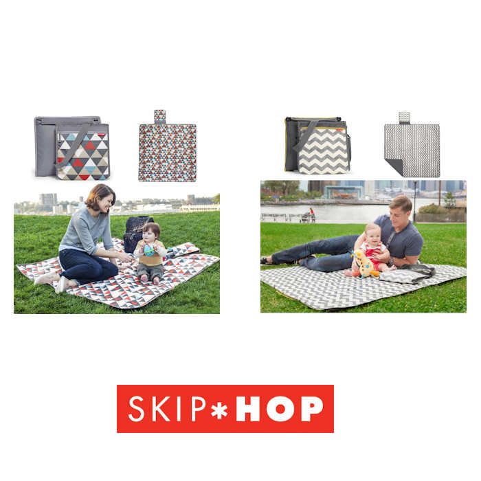 Skip Hop Central Park 2 in 1 Outdoor Blanket  Cooler Bag