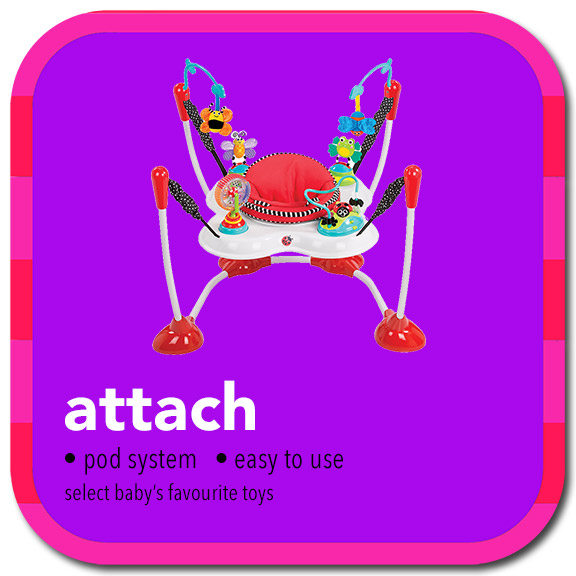 attach • pod system • easy to use • select baby