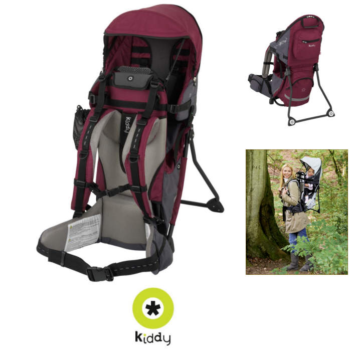 Kiddy Adventure Pack Carrier - Bordeaux