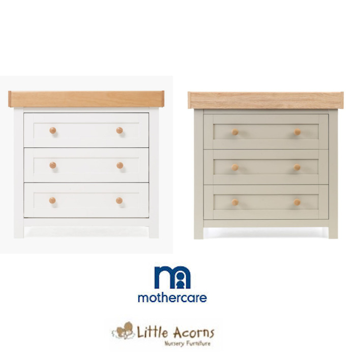 Mothercare Little Acorns Lulworth Deluxe Dresser with Changing Unit