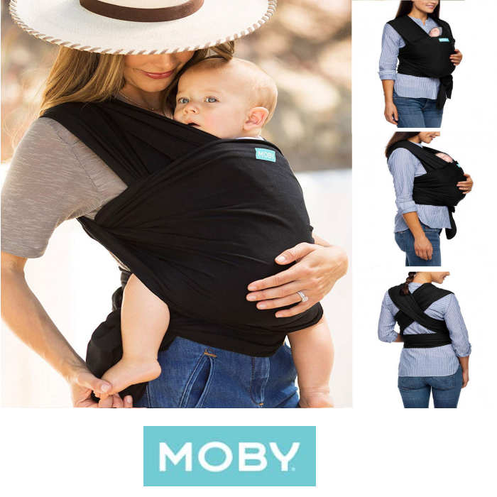 Moby Wrap Evolution Baby Carrier - Black