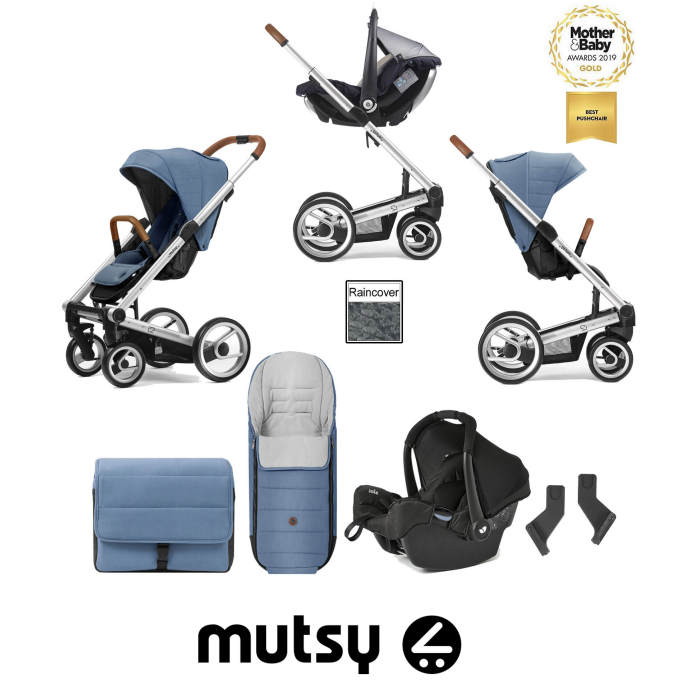 Mutsy I2 Heritage Silver Chassis Travel System