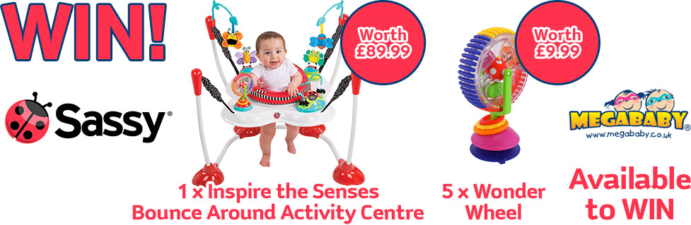 WIN! 1 x Inspire the Senses Bounce Around Activity Centre + 5 x Wonder Wheel Available to WIN
