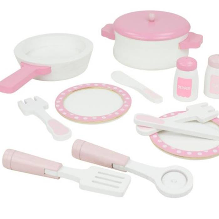 ASDA-Pink-Wooden-Cooking-Set