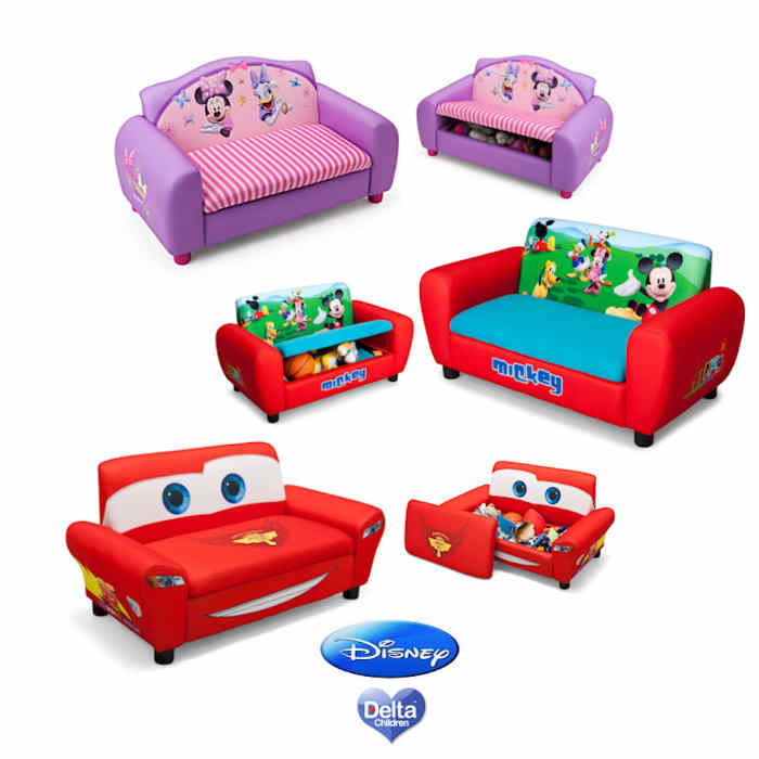 Delta Children Upholstered Sofa With Storage