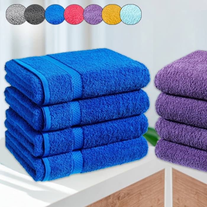 4 x Jumbo Egyptian Cotton Bath Sheets - 13 Colours